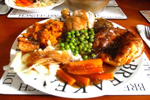 Sunday roast starring Yorkshire pudding