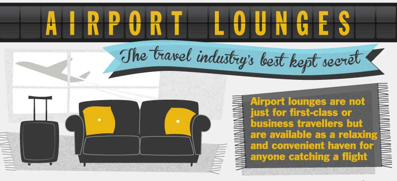 Airport lounge infographic