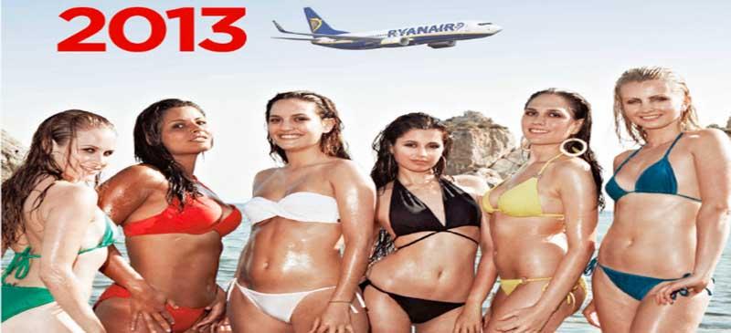 Sexy stewardesses... Ryanair's charity calendar