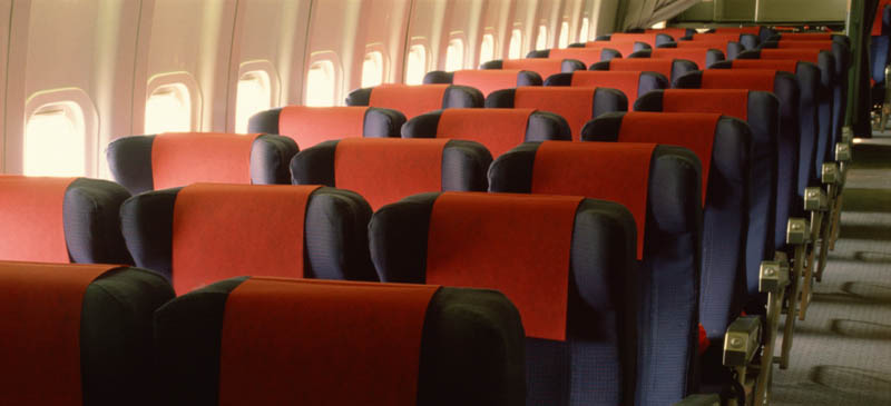 Airline seats are getting smaller