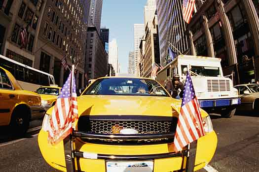 New York's taxis came second
