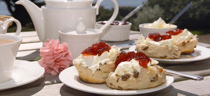 Where can you enjoy afternoon tea?