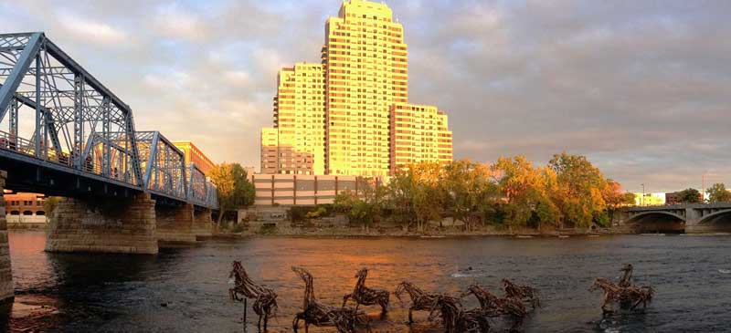 Stick-to-it-ive-ness is a 2012 ArtPrize entry by the artist Richard Morse. Photo taken in Grand Rapids, Michigan, USA