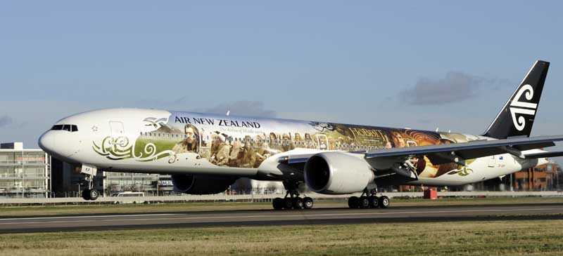 Air New Zealand 777-300 Hobbit Aircraft