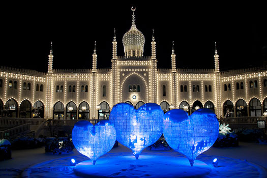 Tivoli at Christmas, Copenhagen, Denmark
