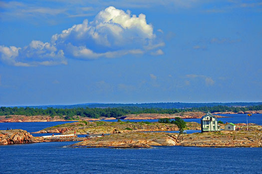 The Åland islands, between Finland and Sweden