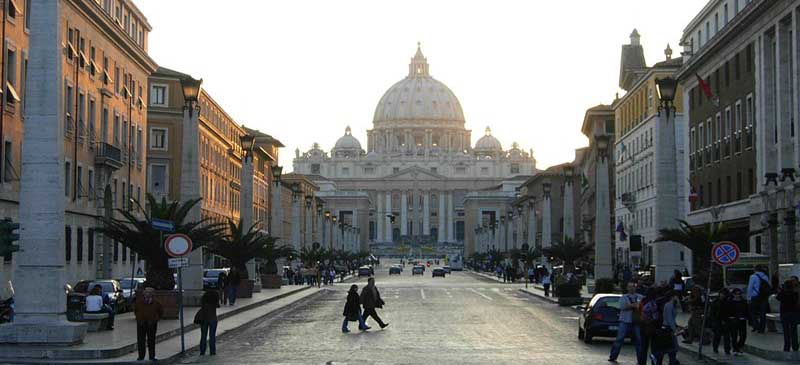 High tourist numbers... Vatican City
