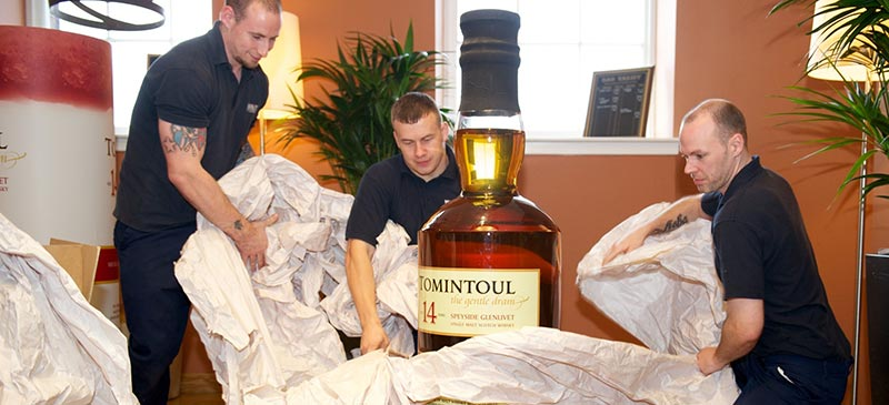 Largest single malt whisky bottle in the world