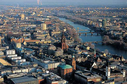 The historic centre of Frankfurt am Main, Germany