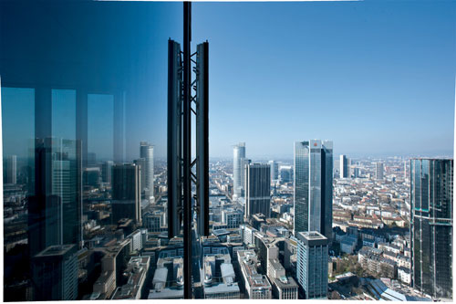 The view from the Main Tower, Frankfurt, Germany