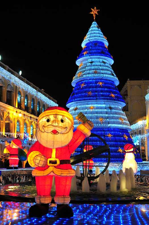 Macau - Christmas trees with real bling