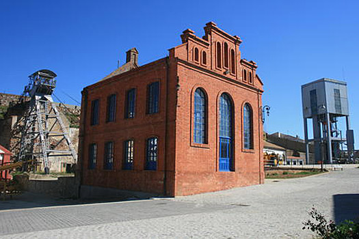 Machinery Building of the San Aquilino Shaft, Spain.