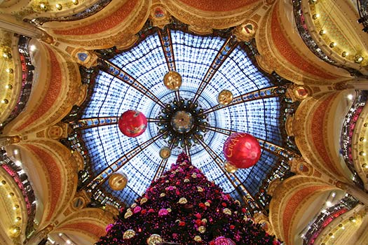 Paris - Christmas trees with real bling