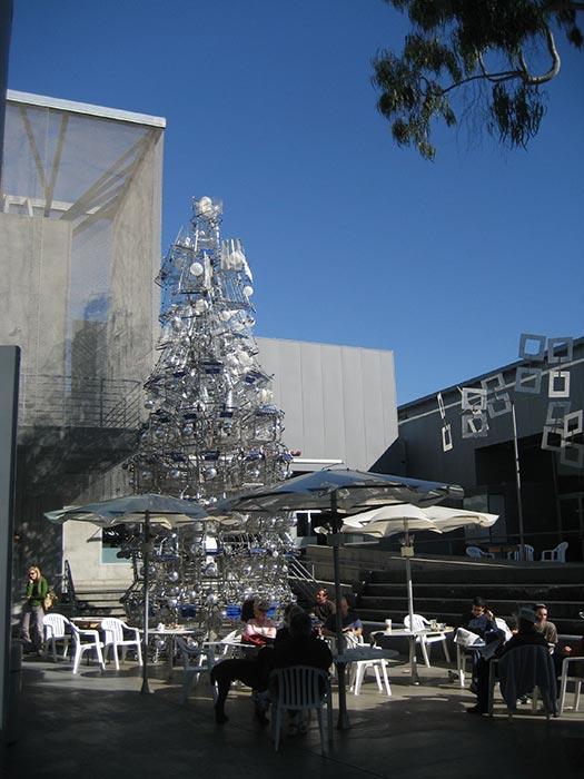 Santa Monica - Christmas trees with real bling