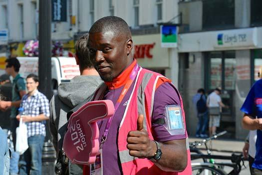 Friendly... Olympic volunteers
