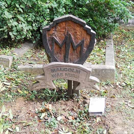 Malcolm McLaren's Grave, East Cemetery, Highgate, London