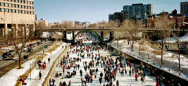 Ottawa Rideau Canal Skateway - Romance Canuck-style