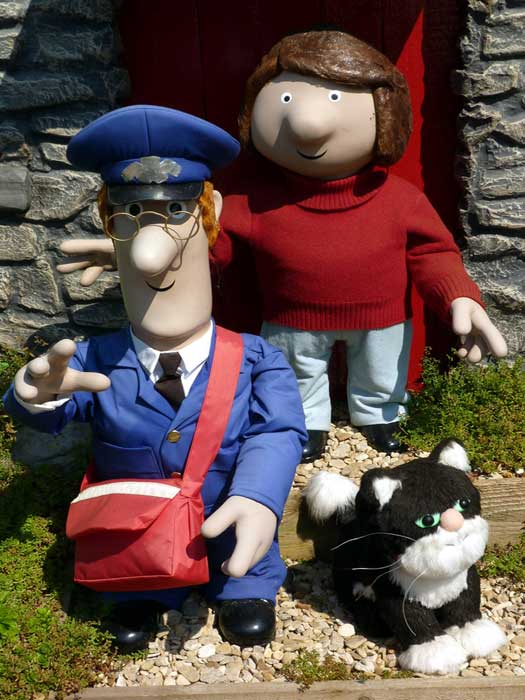 Postman Pat with Jess the cat, and his wife