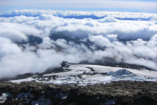 At the summit of Villarrica volcano, Chile
