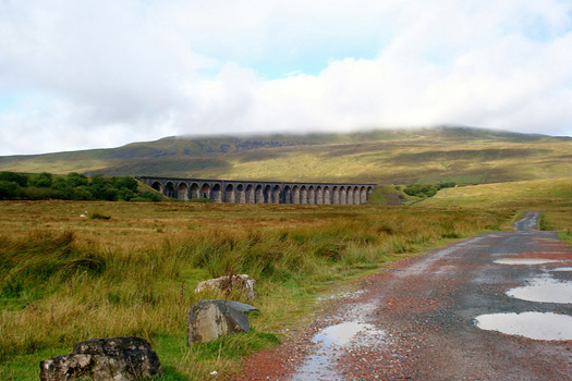 The Ribblehead viaduct on the Settle to Carlisle railway
