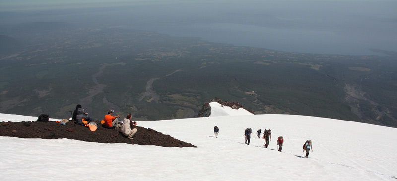 Volcano skiing in Chile