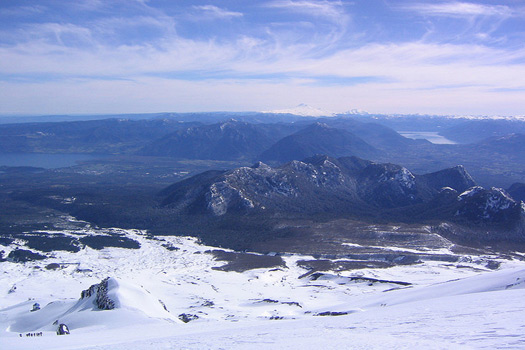 Chile's Lake District seen from Volcan Villarica. Photo by Phillie Casablanca