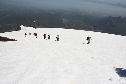 Villarrica volcano hike in Pucón, Araucania Region, Chile