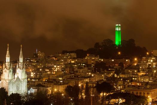 Coit Tower in San Francisco, California, USA
