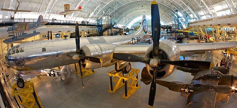 Enola Gay at the Smithsonian - Top 5 aviation museums in the world