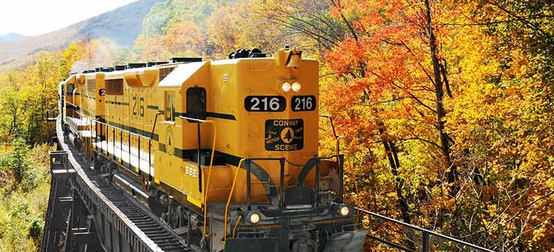 Conway Scenic Railroad - 5 New England train journeys