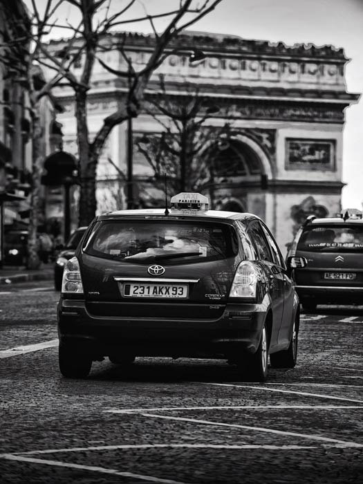 The Accidental Tourist ends with a cab in Paris, France