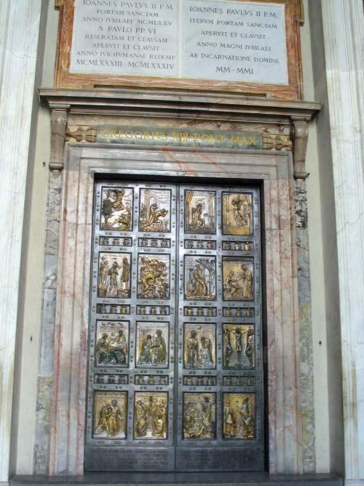 Holy Door or Porta Sancta, St. Peter's Basilica, Rome