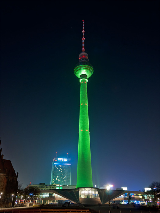TV Tower in Berlin's Alexanderplatz, Germany