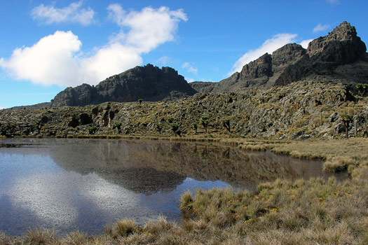 The Chogoria Route in Mount Kenya National Park.
