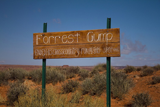 Monument Valley from the Utah side where Forrest Gump finished his run