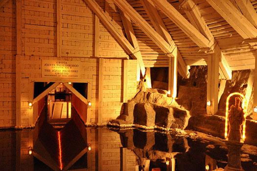A grotto at Wieliczka Salt Mine, Poland