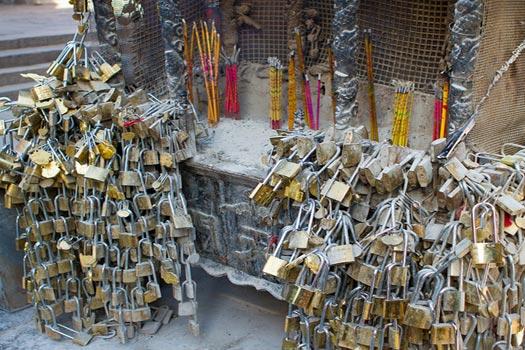 Incense, locks and love at Mount Tai, Shandong Province, China