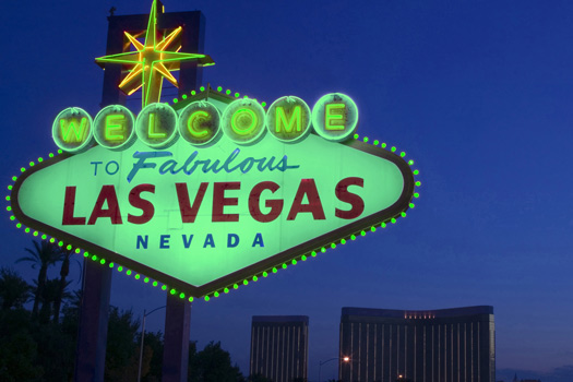 """The iconic """"Welcome"""" sign in Las Vegas, Nevada, USA"""
