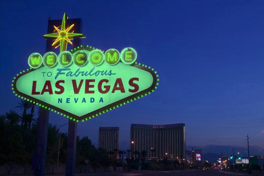 The Vegas sign will be going green this year