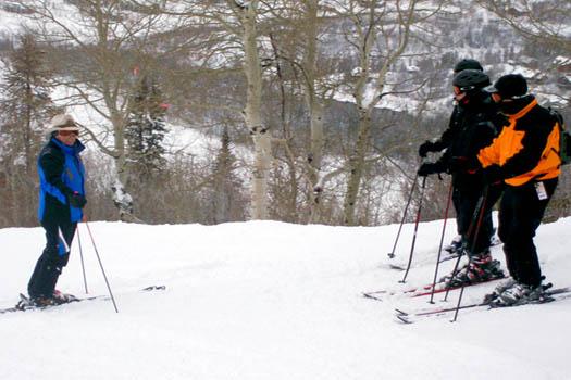 Typical ski hosting duties