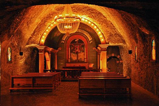 Small chapel at Wieliczka Salt Mine, Poland