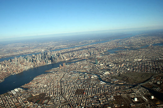 New York (A2) - 5 Famous cities from the window seat