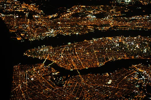 New York (A4) - 5 Famous cities from the window seat
