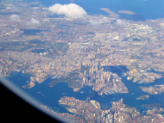 Sydney (B1) - 5 Famous cities from the window seat
