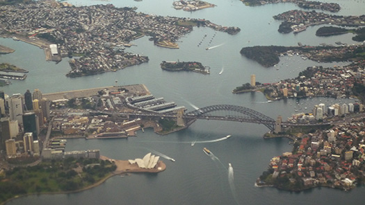 Sydney (B2) - 5 Famous cities from the window seat