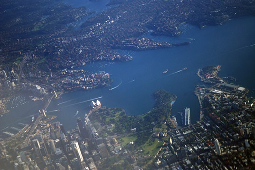 Sydney (B3) - 5 Famous cities from the window seat