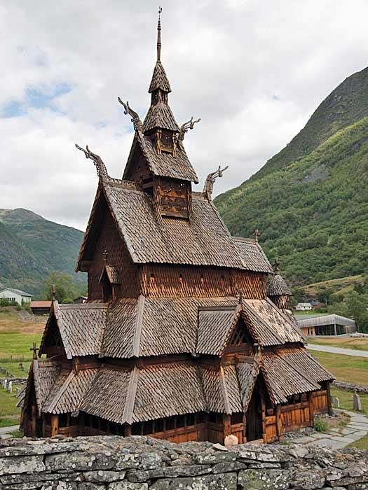 Borgund Stave Church, Norway. Photo by Edward Dalmulder