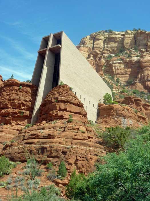 Chapel of the Holy Cross, Arizona. Photo by Frank Kovalchek