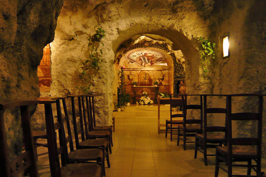 The Alter in the Cave Church. Photo by B Romero