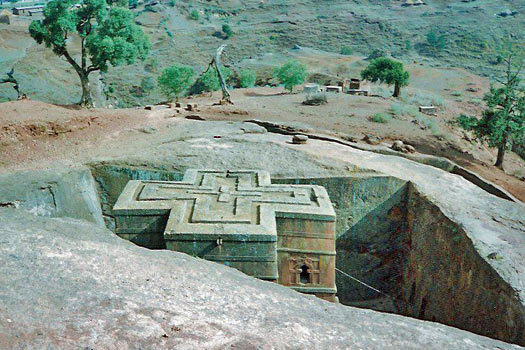 Roof of the Church of Saint George, Ethiopia. Photo by CT Snow